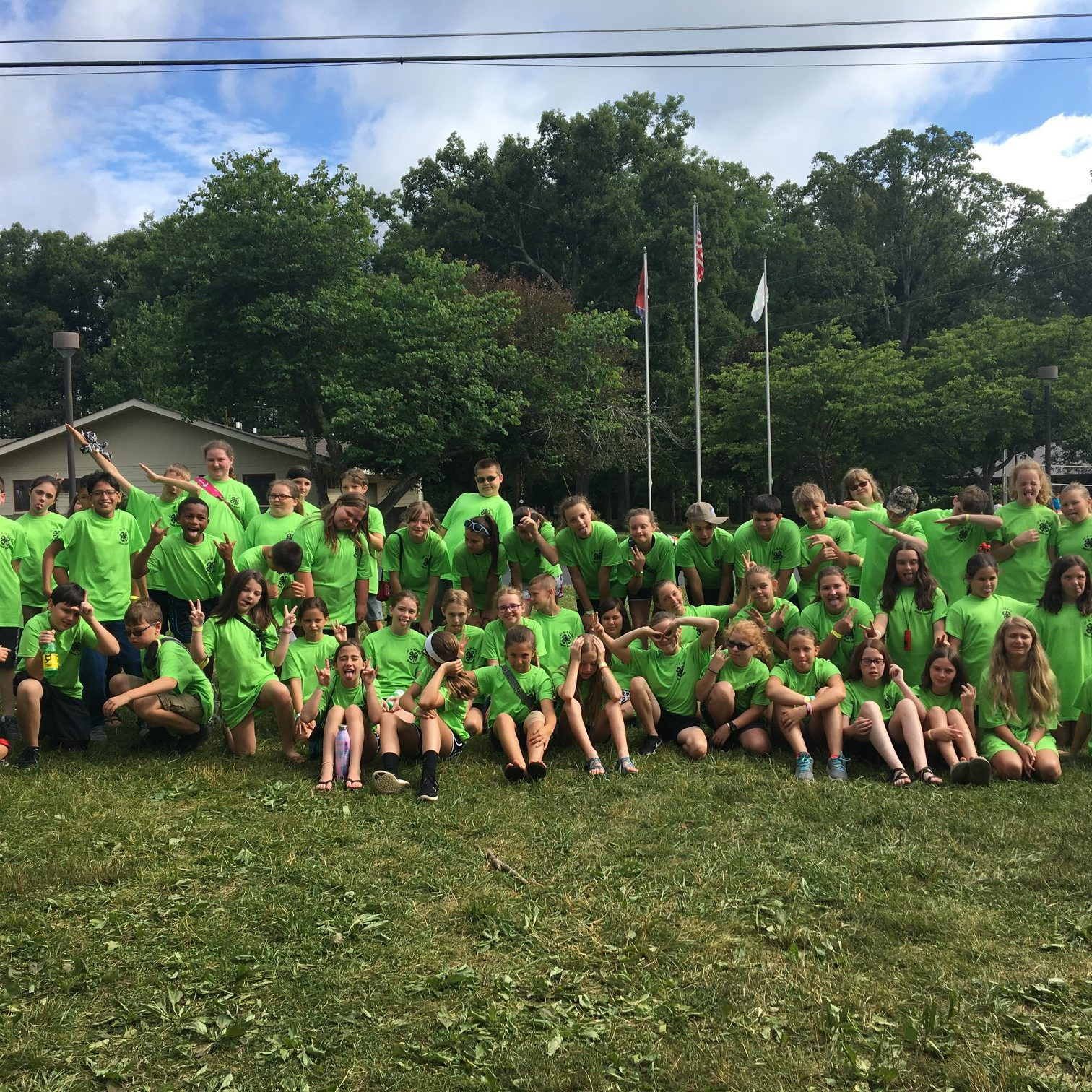 Group photo of 4-H Camp 2018