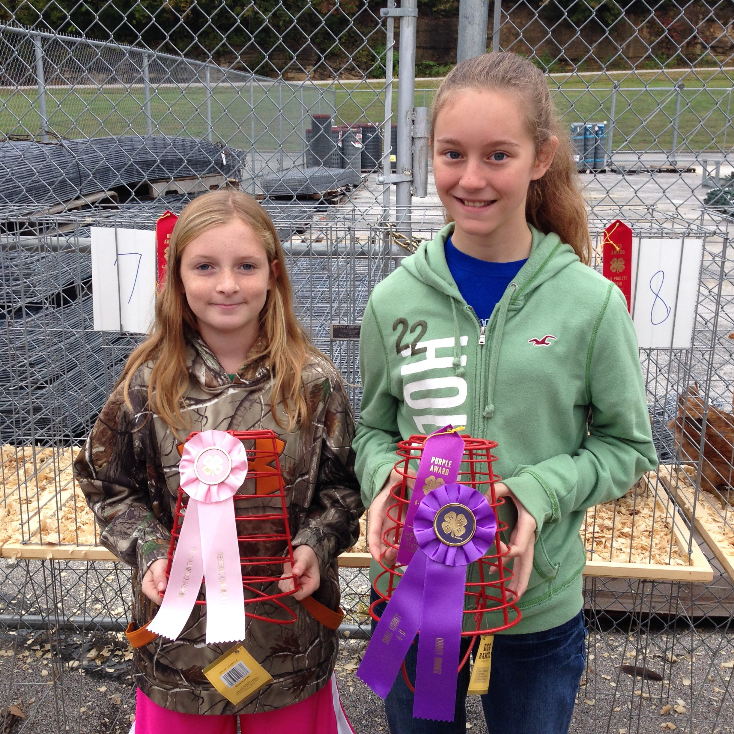 4-H Contest chick chain winners